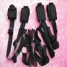 Handcuffs Buffs Bedroom Nylon Bandages Couple Toys Adult Fetish Games Set Black