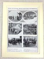 1914 WW1 Aufdruck Deceleration Von Krieg Militär Mobilisation Britisch Soldaten