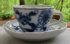 Meissen Blue Onion Cup and Saucer Set