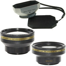 30mm Wide Angle + Telephoto Lens Kit + Hood fo Sony DCR-TRV39,22,HDR-HC3,HDR-SR1