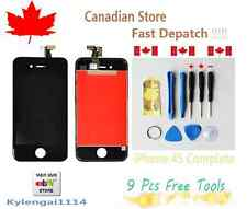 For Black iPhone 4S Replacement LCD Screen Assembly+FreeTools