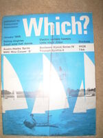 VINTAGE WHICH MAGAZINE JANUARY 1965 BLANKETS - LITTLE BLACK DRESS - DINGHIES