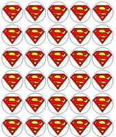 30 Superman Edible Rice Paper Cake / Cupcake Toppers / Decorations