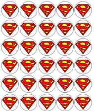 30 Superman Comestibles Papel De Arroz Pastel / Cupcake Toppers / Decoración