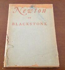 1937 Newton On Blackstone Limited Signed 206/2000 Dust Jacket Very Rare