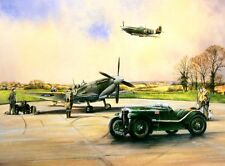 AVIATION PRINT PAINTING MAGNETIC ATTRACTION MG MAGNETTE MKV SPITFIRE