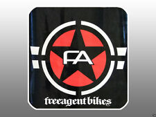 """Collectible Free Agent BMX Bike Store Window Decal 12"""" x 12"""""""