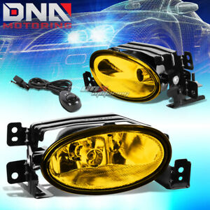 FOR 06-08 ACURA TSX CL9 K24A2 YELLOW TINT OE BUMPER FOG LIGHT LAMP+SWITCH KIT