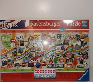 Ravensburger 2000 Piece Panorama Puzzle The Beatles Through The Years New Sealed