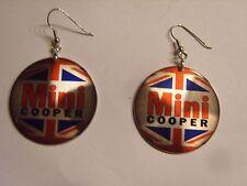 Ohrring kleine runde Form Britisch Mini England aus Aluminium Originell  3375