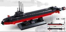 Navy Army Nuclear Submarine Ship 1:350 Building Toy Blocks Gift