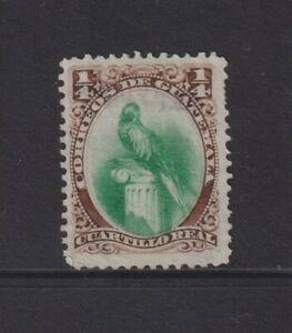 Guatemala - 1879, 1/4r Green & Brown, Bird stamp - Used - SG 15