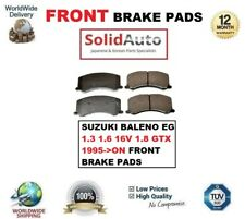 FOR SUZUKI BALENO EG 1.3 1.6 16V 1.8 GTX 1995->ON FRONT BRAKE PADS OE QUALITY