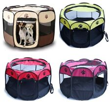 Foldable Pet Dog Cat Puppy Portable Travel Carry Tote Cage Bag Crate Kennel  UK