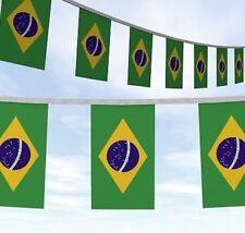 HUGE 10 METRE BRAZIL BRASIL FLAGS BUNTING Bandeira do Brasil