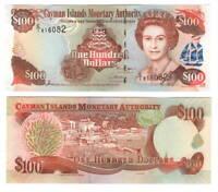 CAYMAN ISLANDS $100 Dollars UNC Banknote (2006) P-20 Queen Elizabeth C/1 Prefix