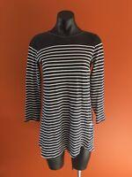 Stussy Long Top Dress Size 8 Striped Dress Black And White