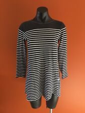 Stussy Long Top Dress Size 8 Striped Dress Black And White