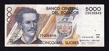 F.C. ECUADOR , 5000 SUCRES 1995 , EBC- ( VF+ ) , P.128b .