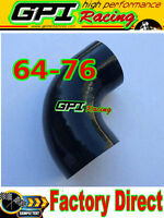 "GPI 2.5""-3"" 90° DEGREE 63mm-76 mm TURBO SILICONE ELBOW COUPLER HOSE PIPE BLAC"
