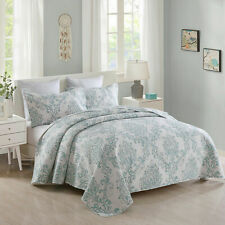 3 Piece King Size Quilt Set Blanket Bedspread w/ 2 Matching Pillow shams