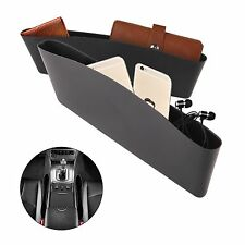 2x Black Catch Catcher Box Caddy Car Seat Gap Slit Pocket Storage Organizer