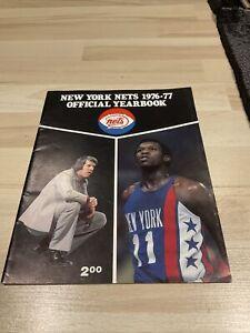 1976-77 New York Nets Yearbook NBA Robert Hawkins Loughery Cover Nate Archibald