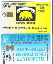 Advertising yellow & blue pages phonebooks used.