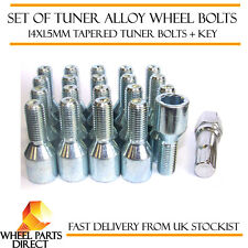 Set of 20 14x1.5mm 14x1.5 Tuner Drive Sparco SD Alloy Wheel Bolts + Nuts Key