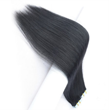 20pcs 20 inch Super Tape-in 100% Human Hair Extensions Remy A+ #1B (off black)