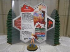 Heroscape Custom Power Girl Double Sided Card & Figure w/ Sleeve DC