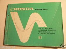 HONDA CB650 CC PARTS CATALOGUE NO 1 1981 MOTORCYCLE