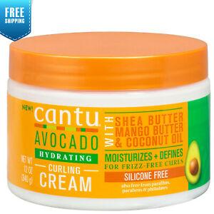 Cantu Avocado Hydrating Curling Cream with Shea Mango Coconut Define Curls 12oz