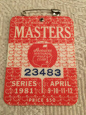1981 Masters Badge Ticket Augusta National Golf Pga Tom Watson Wins Rare Tiger