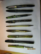 8 Pens In Collection Incl. Fountain Pens Incl. Parker # 26 & Chilton Wing Flow