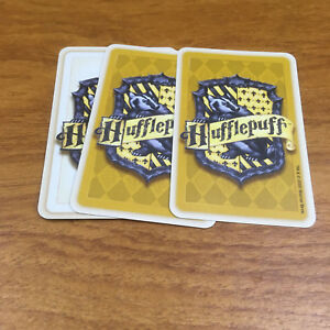 Harry Potter & The Philosophers Stone Trivia Game 3 Hufflepuff Cards Spare Parts