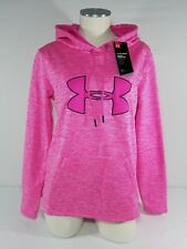 New Women/'s Under Armour Big Logo Pullover Sweatshirt Hoodie 1315120-100 SZ L