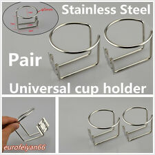 2 Pcs Portable 304 Stainless Steel Automobile Marine Boat Ring Cups Drink Holder