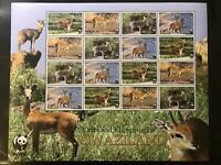 WWF - KLEINBOGEN - SWAZILAND Klippspringerund Oribi 4 Sätze - perfekt - **/MNH
