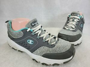 Champion Womens Margaret 169292 Gray Lace Up Low Top Running Shoes Size 9.5 W