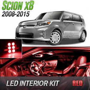2008-2015 Scion xB Red LED Lights Interior Kit