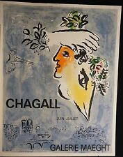 Chagall Galerie Maeght Juin-Juiliet Poster