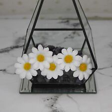 White daisy hair pins, festival accessories, rave accessories, bohemian, gypsy