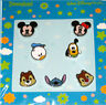 Disney Parks Cutie Head Booster Pin -Mickey,Minnie,Donald,Pluto,Chip,Dale,Stitch