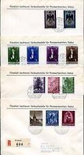 LIECHTENSTEIN 1956-1960 FDC BELEGE SAUBER ca 550€(55444c