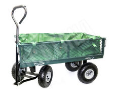 Garden Cart  4 Wheel Trolley Folding Handle Economic Style up to 150kg