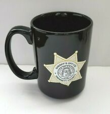 Black Gwinnett County Sheriff Office Black Coffee Mug