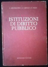 Istituzioni di diritto pubblico -Arcidiacono, Carullo, Rizza- Monduzzi,1993 -L