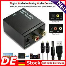 Digital zu Analog Audio Konverter Wandler Optisch Toslink Koaxial auf RCA DC 5V