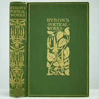 1900 LORD BYRON POEMS DRAMAS RARE ART NOUVEAU FINE BINDING DON JUAN ANTIQUE BOOK
